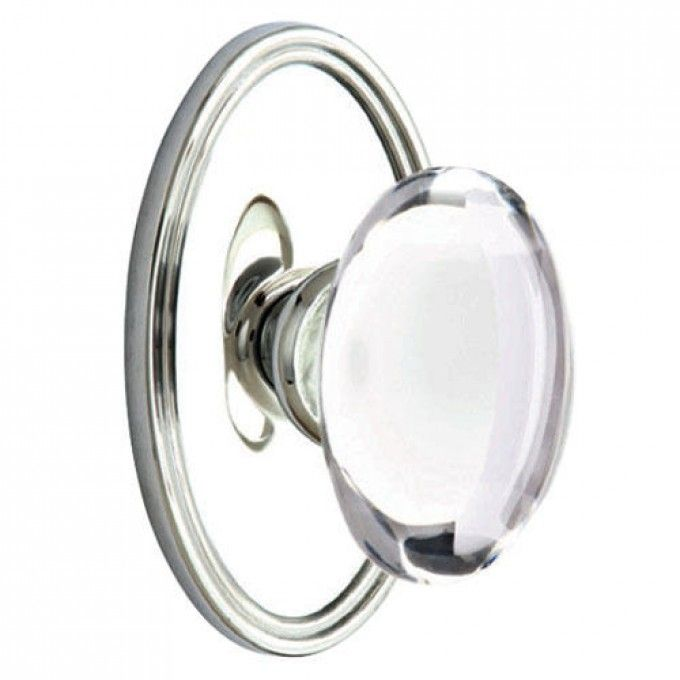 Hampton Door Knob Set with Oval Rosettes - Privacy, Passage and ...