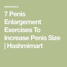 dick enlargement exercise