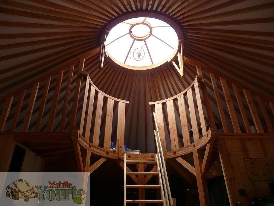 Mezzanine pour yourte sur mesure un toit pinterest for Extension maison yourte