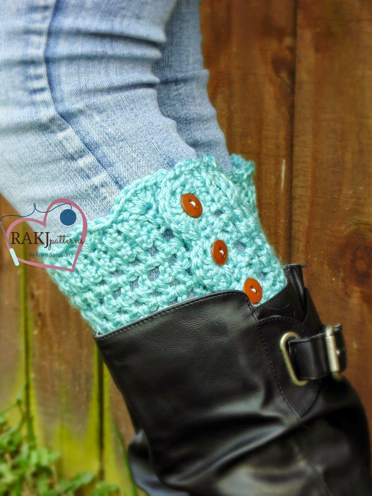 Stylish Button Boot Cuffs pattern by Kristi Simpson | Pinterest
