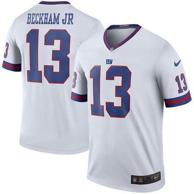 Men s New York Giants Odell Beckham Jr Nike White Color Rush Legend Jersey 104f3b49e