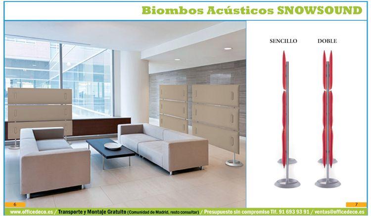 biombos separación de oficinas acústicos.