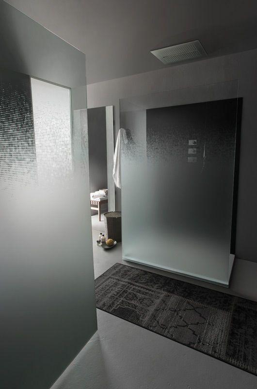 Glass Shower Panel Decorative Fade Omnidecor Glass Shower Shower Panels Bathroom Shower Panels