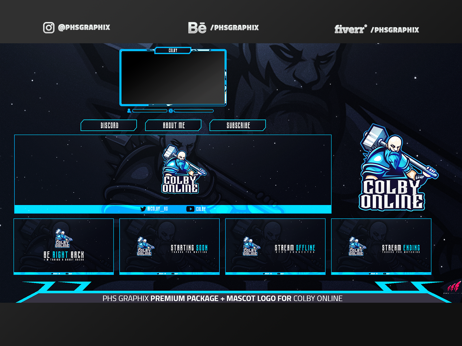Full Twitch Package For Colbyonline Twitch Xbox Party Game Logo