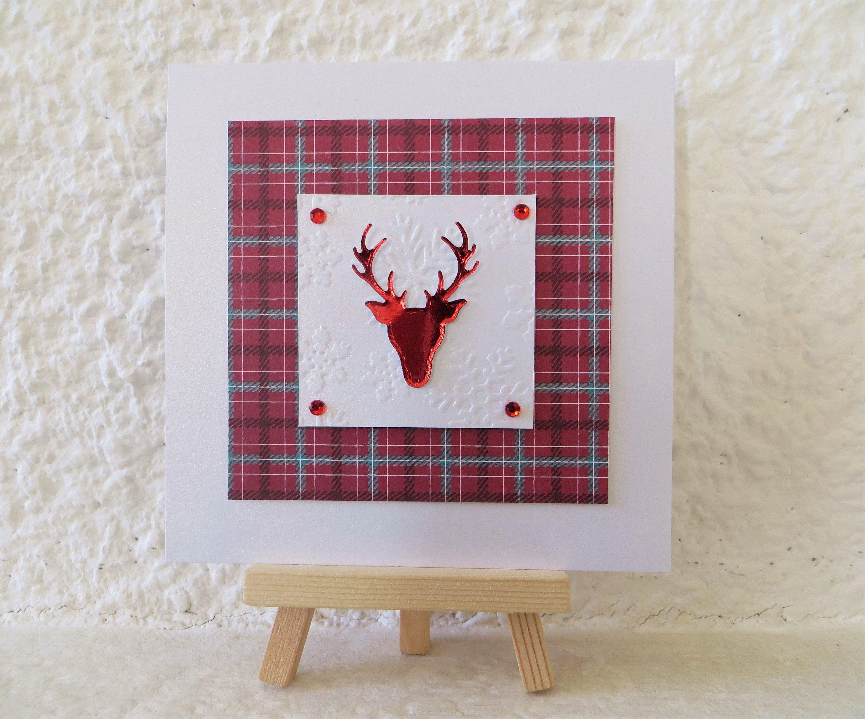 Carte de noël 3D : Noël traditionnel écossais   Noël et voeux