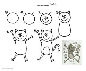 Dessine comme splat capture2 album splat le chat pinterest dessiner dessin et chats - Chat a colorier maternelle ...