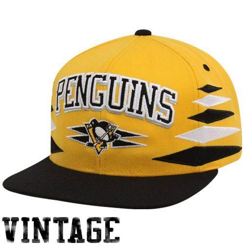 Pittsburgh Penguins Diamond Yellow Black Two Tone Plastic Snapback  Adjustable Snap Back Hat   Cap by Mitchell   Ness.  25.95. Cheer on your  favorite team in ... af834a28bdce