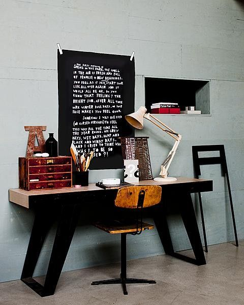 vintage rustic feel - would be perfect for our bedroom computer desk