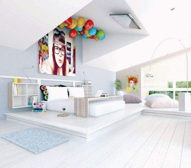 Jugendzimmer Madchen Geraumig Weiss Poster Deko Kids Bedroom
