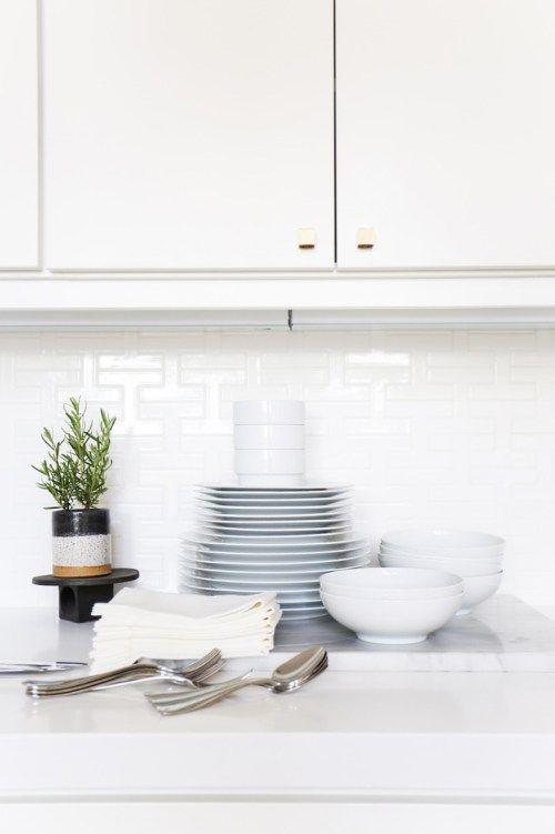 Azulejos blancos para cocinas pequeñas Inspiración Cocina