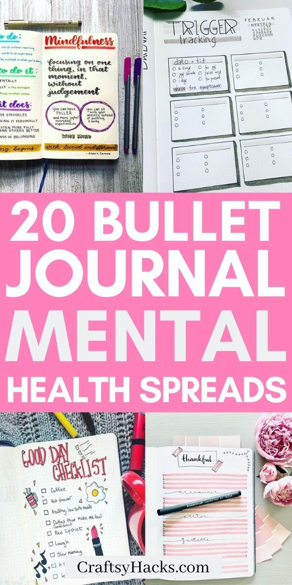20 Bullet Journal Mental Health Spreads