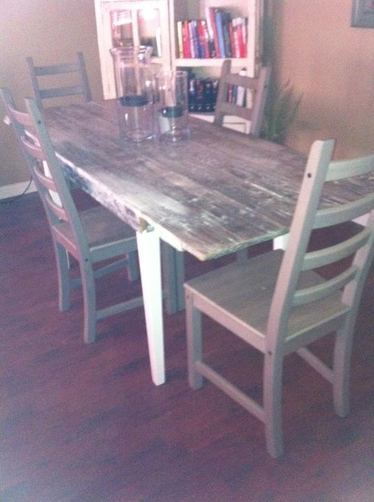 My Barn Door Table Made From Scratch Love It