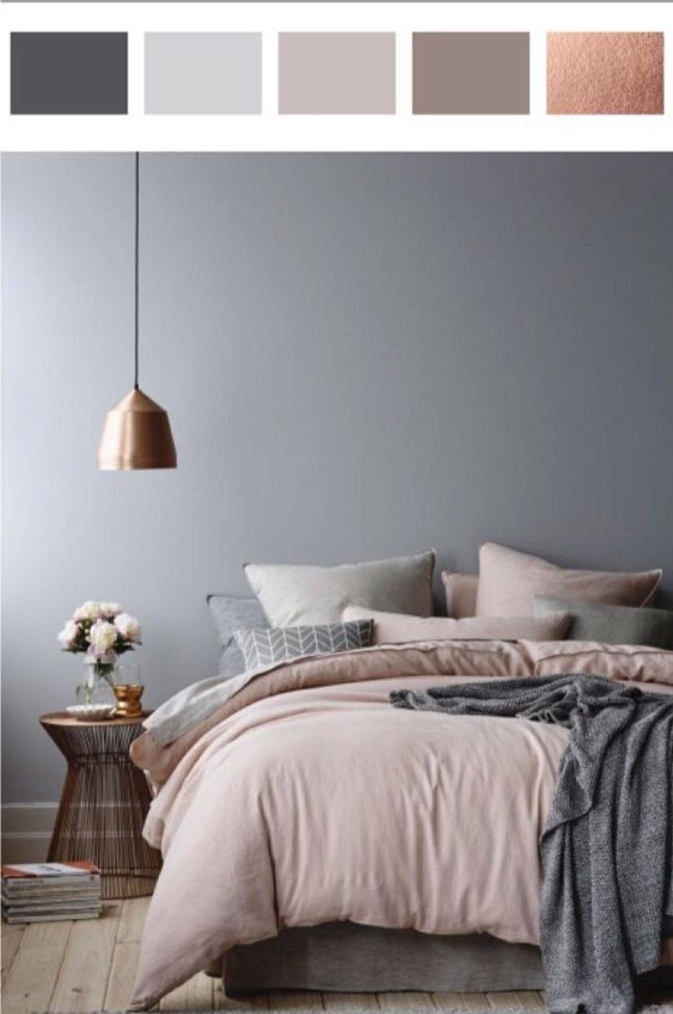 Bedroom Colors With Brown Furniture 10 Shades Of Grey In The Bedroom With Images In 2020 Grey And Gold Bedroom Grey Bedroom Colors Rose Gold Bedroom