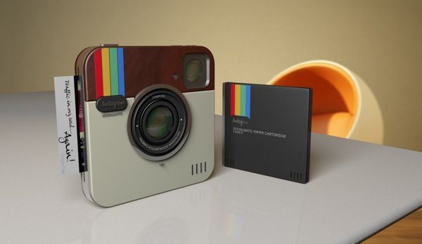 "Instagram camera concept ""Instagram Socialmatic Camera"" combining Polaroid, App diesgn and camera by ADR-Studio"