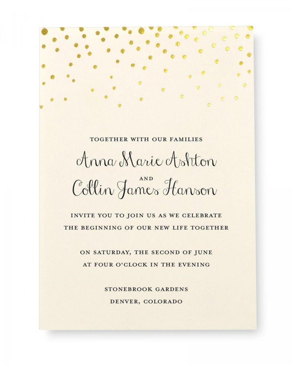 Print At Home Invitation Kit Gold Foil