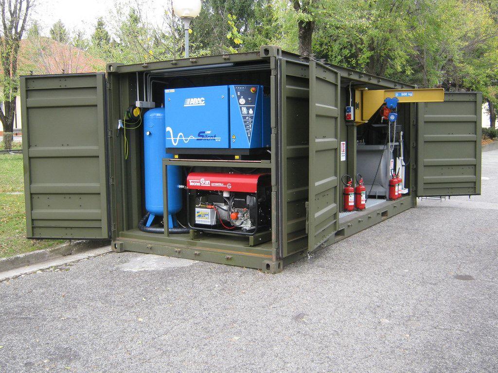 Container Iso1c Distribuzione Campale Lubrificanti Per Veicoli Container House Plans Shipping Container House Plans Container House