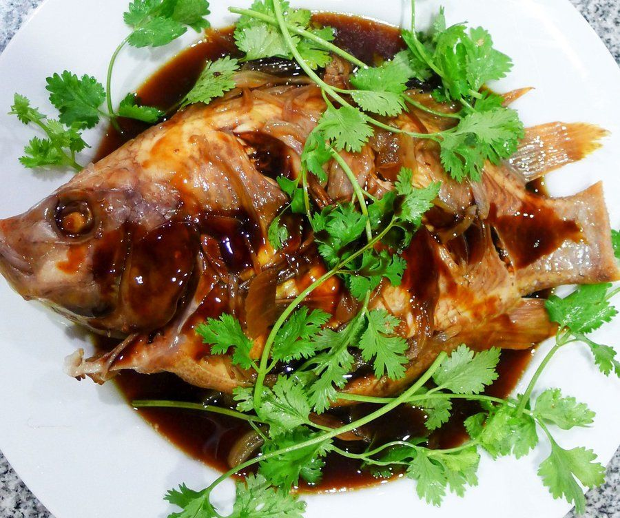 Steamed Red Tilapia
