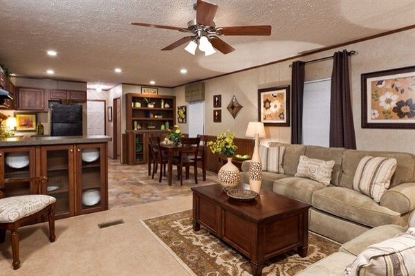 Practical And Gorgeous Arrangement Of Furniture Mobile Home Living Single Wide Mobile Homes Mobile Home Decorating