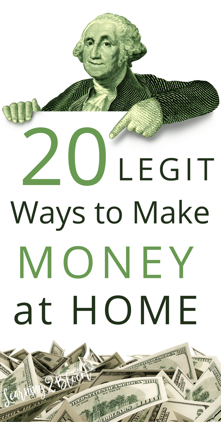 20 legit ways to make money from home. Check out these money making ...