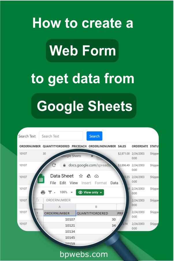 This Tutorial Explained To You How To Create A Basic Search Form In Your Google Apps Script Web App To Retrieve Data From Go Google Sheets Web Forms How To Get