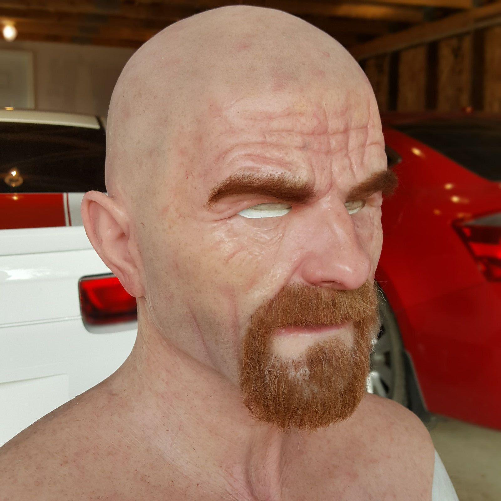 Breaking Bad Walter White Heisenberg Silicone Mask Ultra Realistic ...
