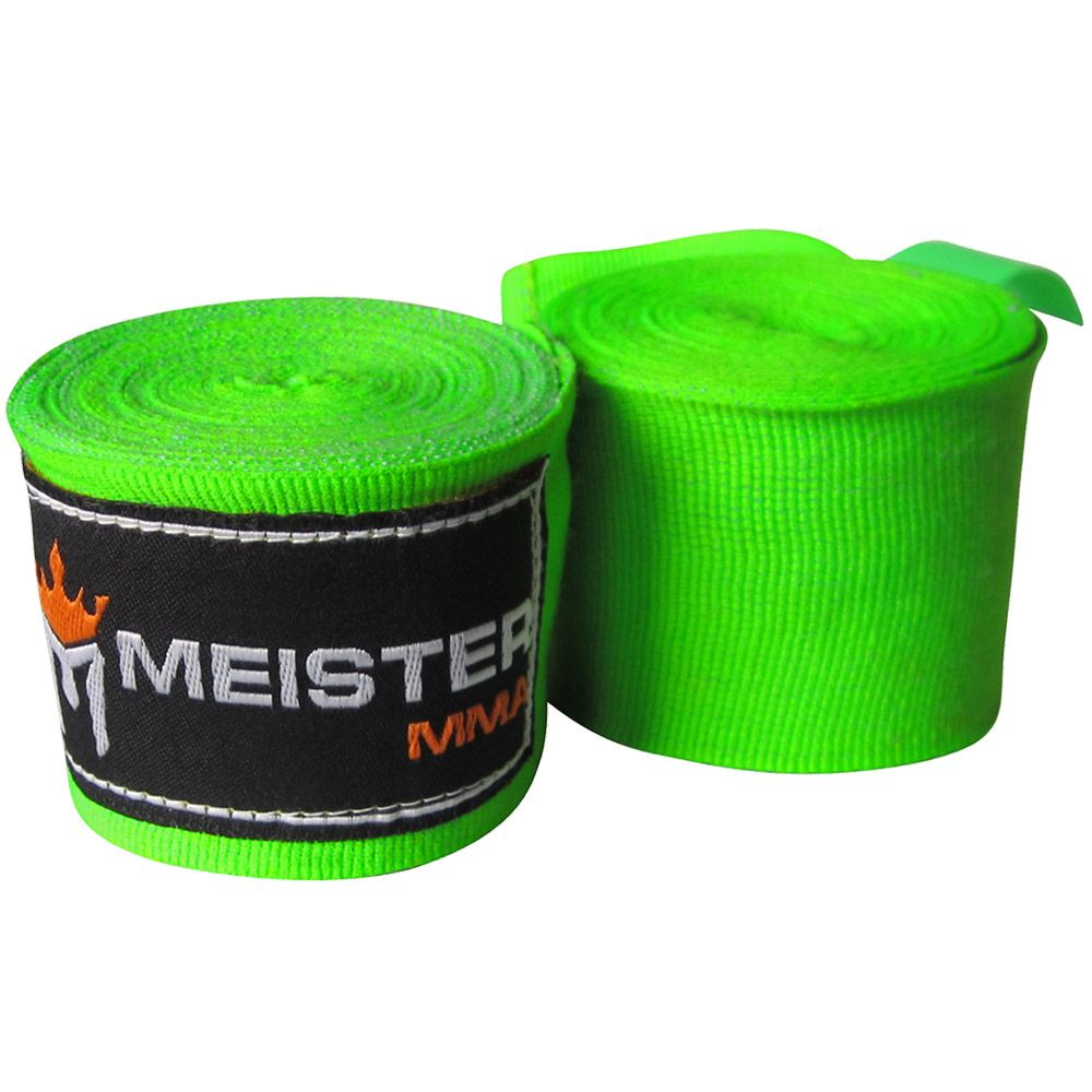 180 mma hand wraps pair neon green hand wrap