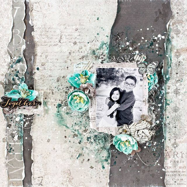 Tiffanys Paper Designs: Together Layout. Live with Prima