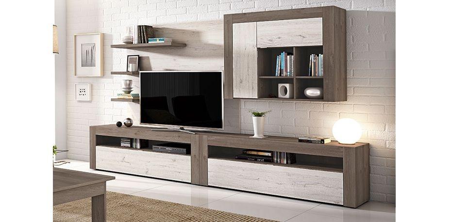 Conjunto muebles de salon modernos acabado for Muebles salon modulares
