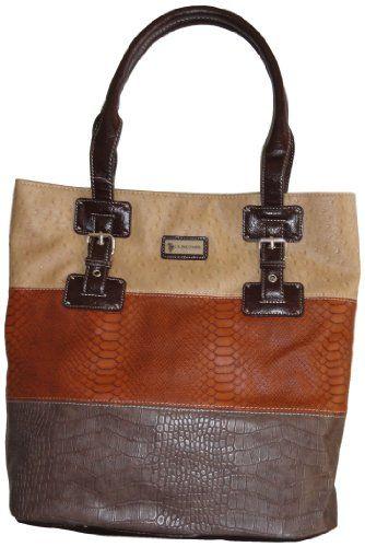 U.S. Polo Assn. USA  Women s Tote Brown Tan Combo. Purses And Handbags 2f84de70e553c
