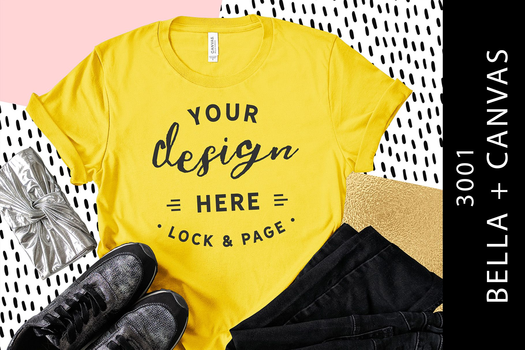 Download Yellow Bella Canvas 3001 T Shirt Mockup Graphic By Lockandpage Creative Fabrica In 2020 Mockup Free Psd Shirt Mockup Free Psd Mockups Templates