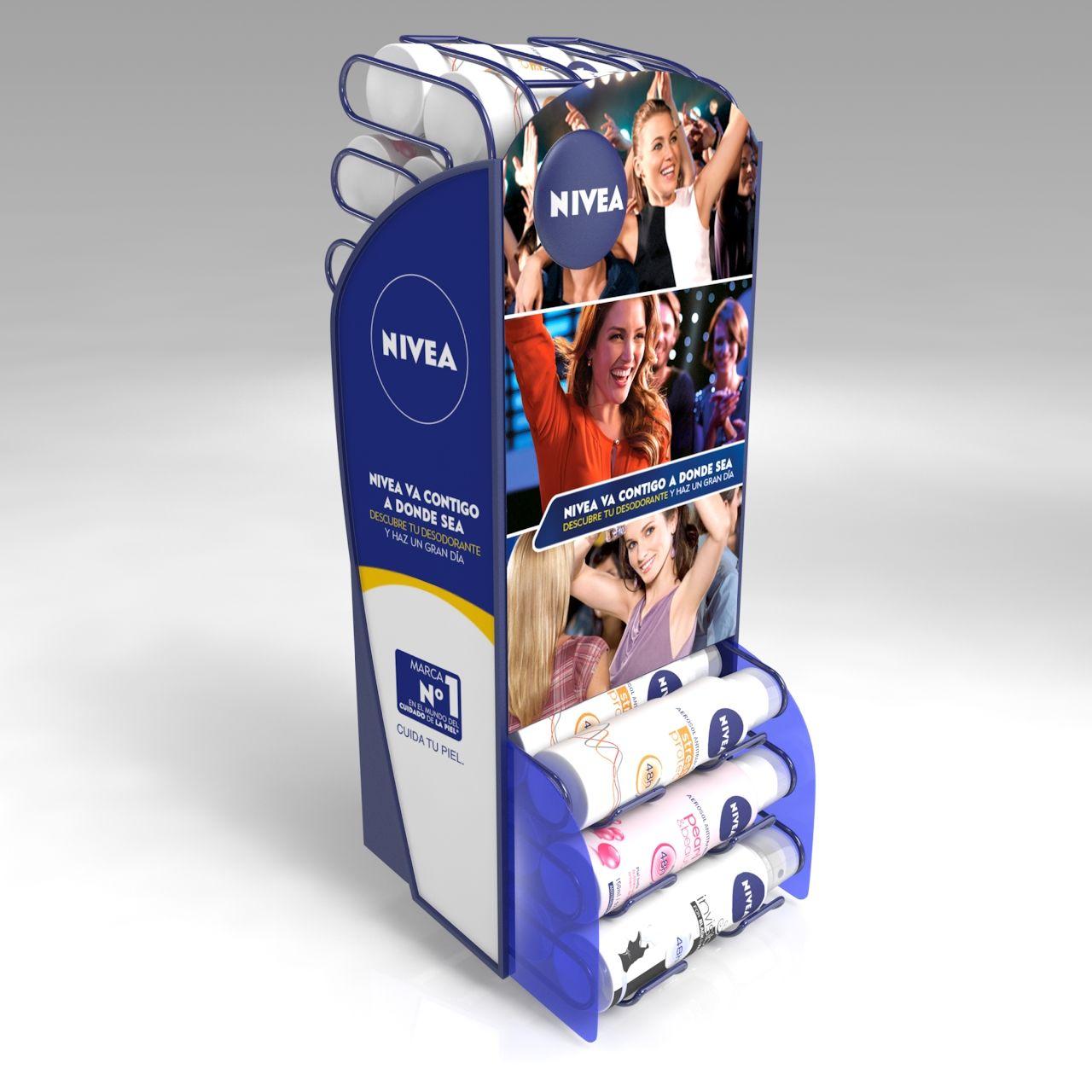 3d Dispenser Woman Detalle Cliente Nivea Beiersdorf  # Muebles Dummy Medellin