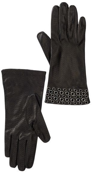 Portolano Leather Grommet Gloves