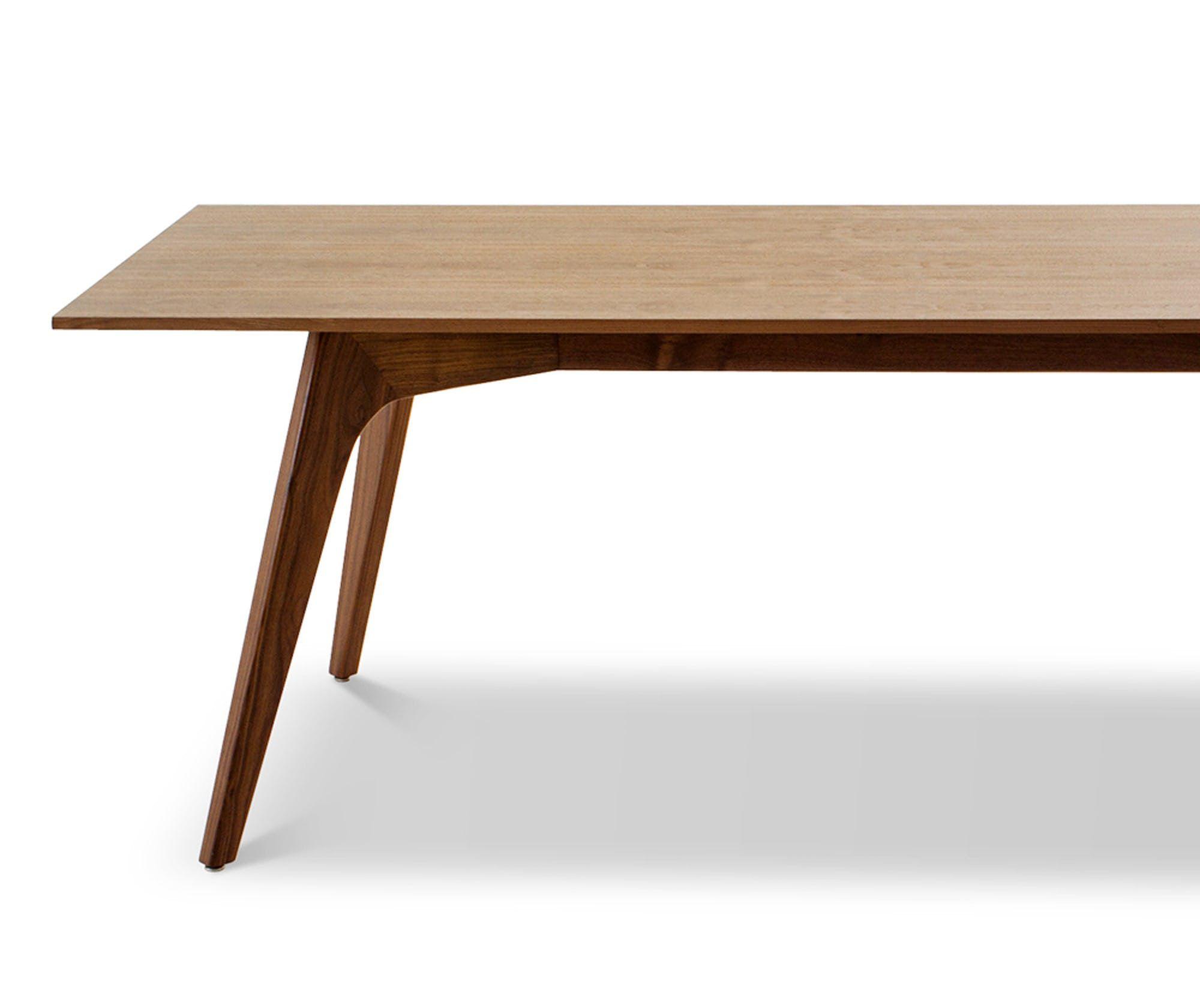 Hesse Wood Top Dining Table Joybird In 2020 Midcentury