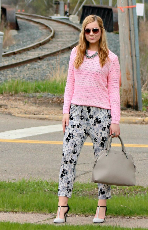 Pink Sweater   Floral Pants | My Style - Rachel's Lookbook ...