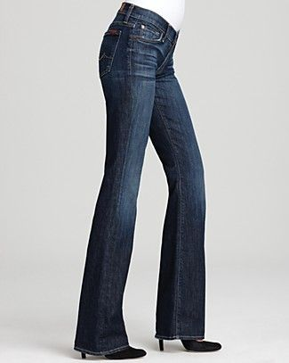 7 For All Mankind Jeans Petite Bootcut Jeans In Nouveau New York