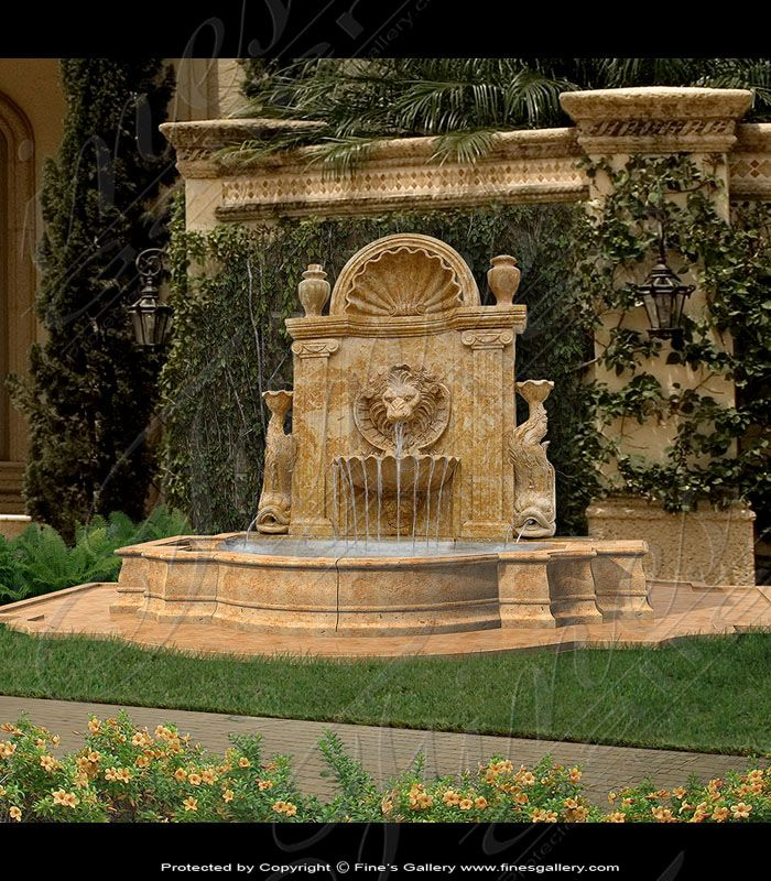 Lion Wall Fountain In 2020 Outdoor
