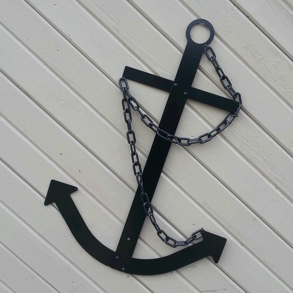 black navy ship u0027s flat metal anchor 14