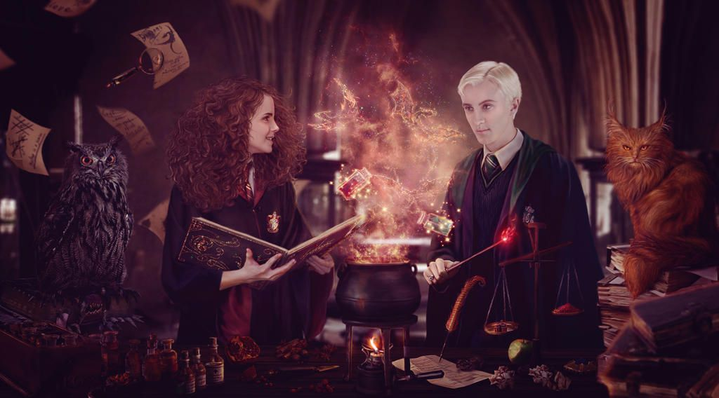 New Potion By Just Orson On Deviantart Dramione Draco Harry Potter Harry Potter Fan Art