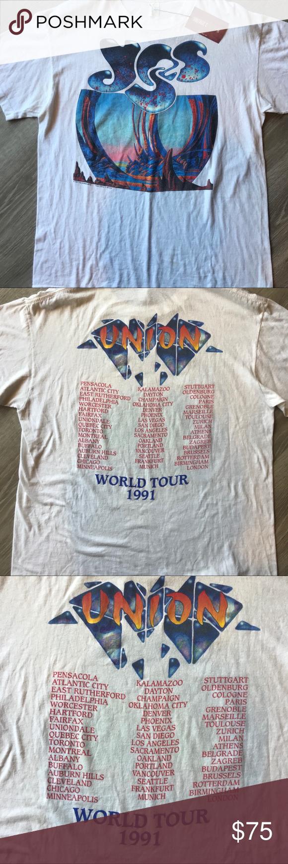 Vintage Yes T Shirt Vintage Tour T Shirts Vintage Shirts