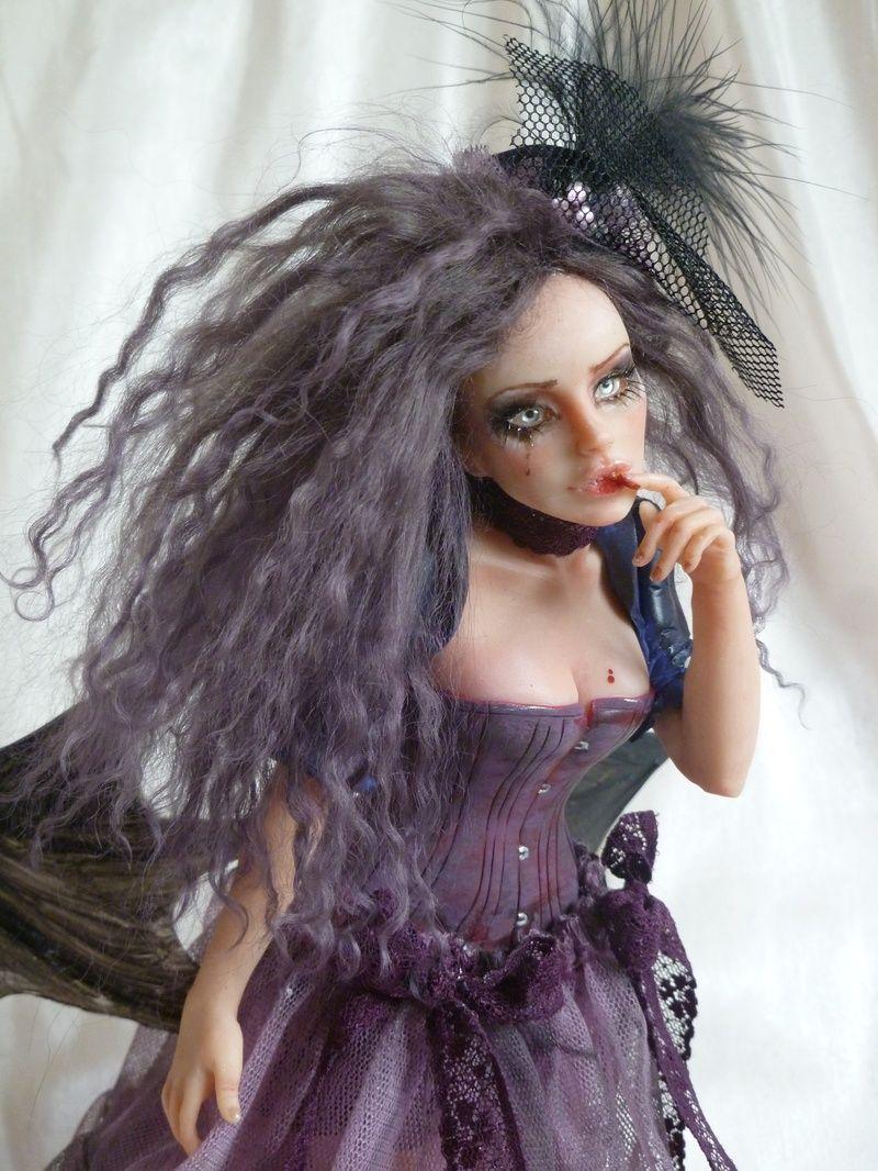 Sad victorian bat fairy