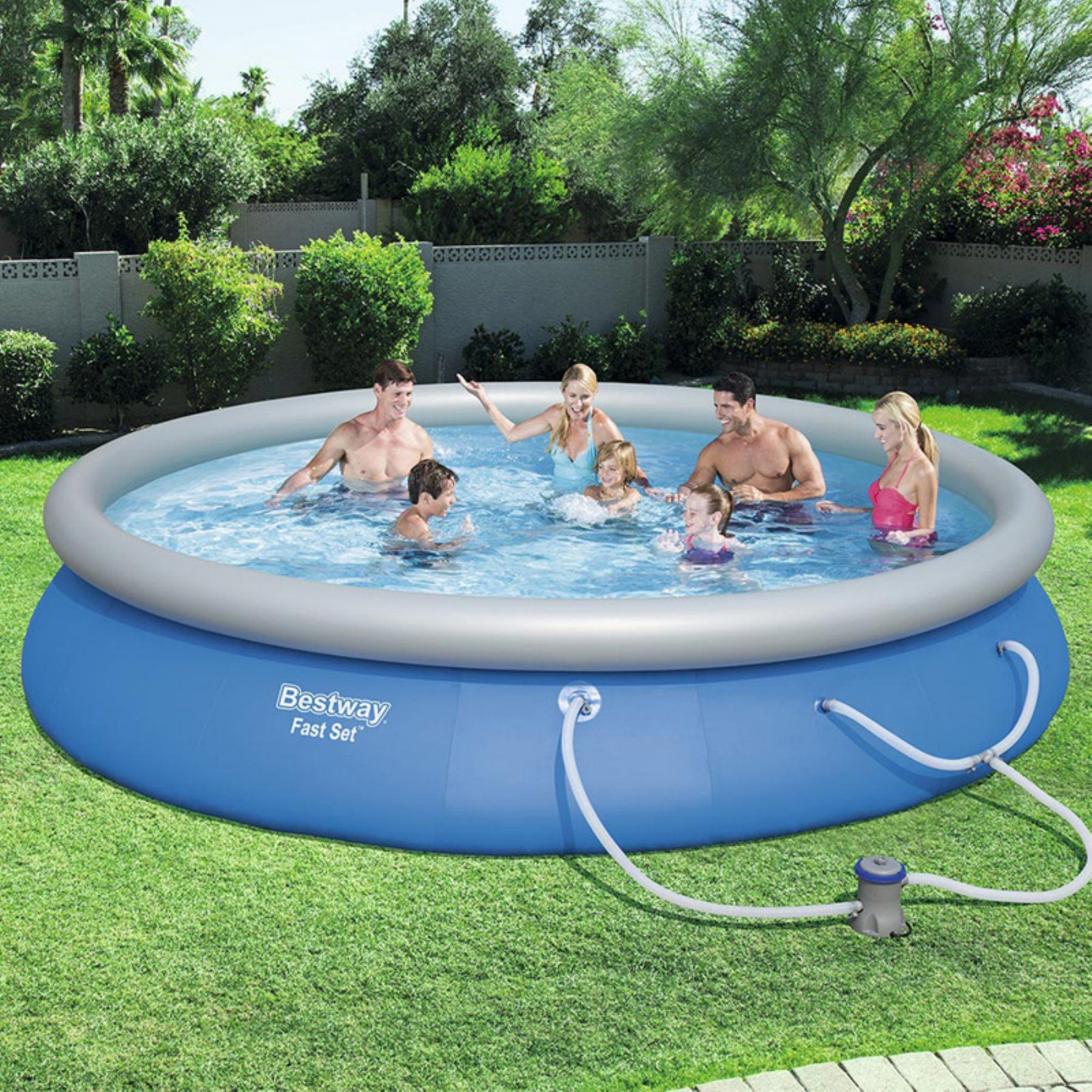Bestway Fast Set 350 Goh Pump Swimming Pool  57315E