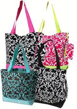 Demask Tote Bag  Bridesmaid Gift Teacher Gift by LifeAStitch, $16.50