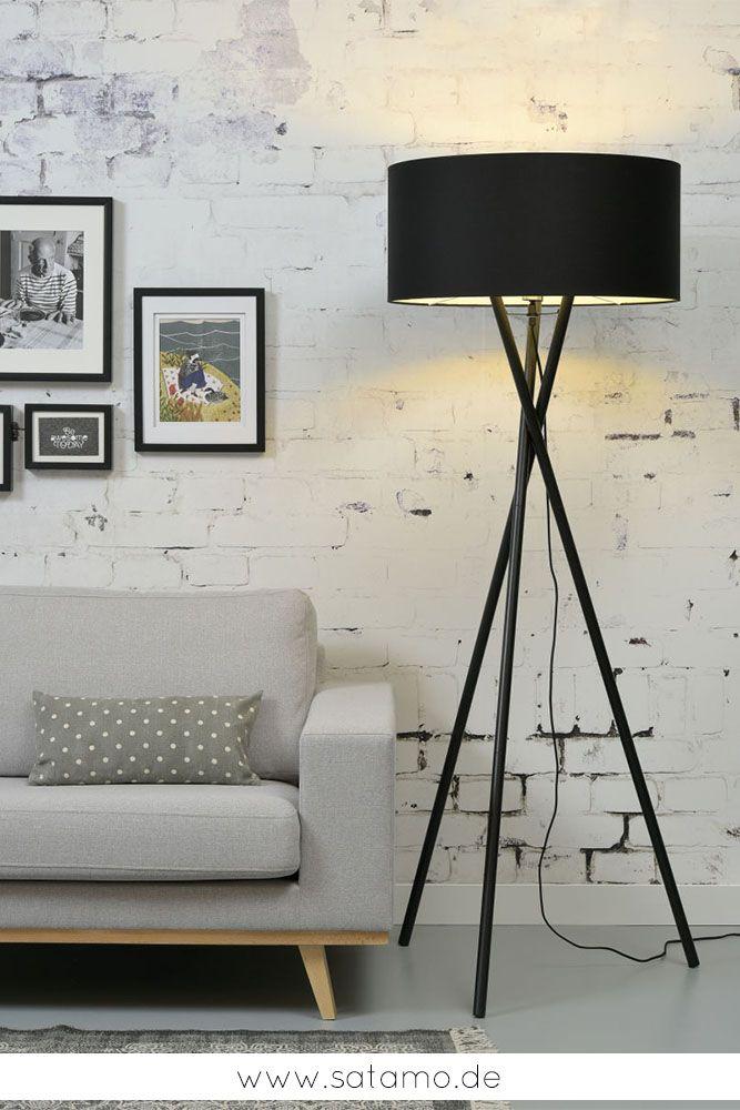 Die Tripod Lampe HAMPTON bringt ein gemütliches Licht und eine Atmosphäre zum Wohlfühlen zu dir nach Hause! Stehlampe Tripod, Tripod Stehlampe, Tripod Stehleuchte, tripod lamp, Stehleuchte Dreibein #esszimmerlampe