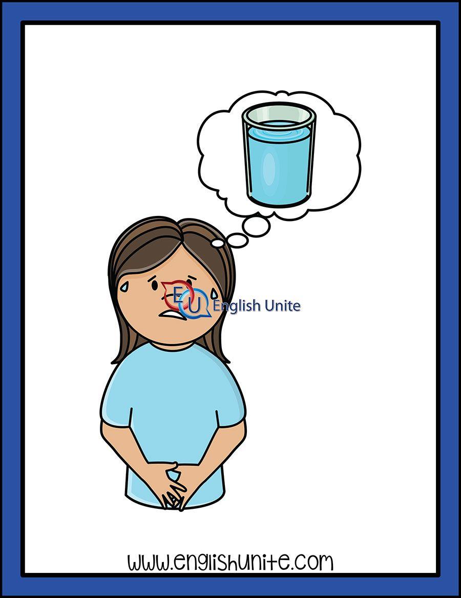 Digraph Thirsty English Unite Alphabet Pictures Clip Art Kids Clipart