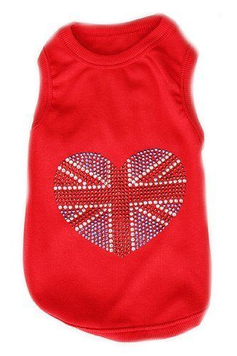 Parisian Pet United Kingdom Flag Dog T-Shirt, Large * Startling review available here  : Dog shirts