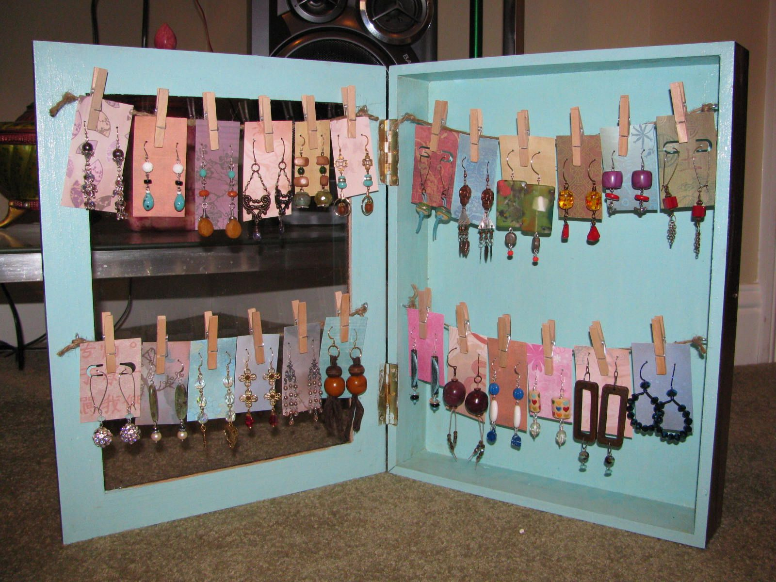 Shadow Box Earring Display Tutorial Guest Post From Heidi Post