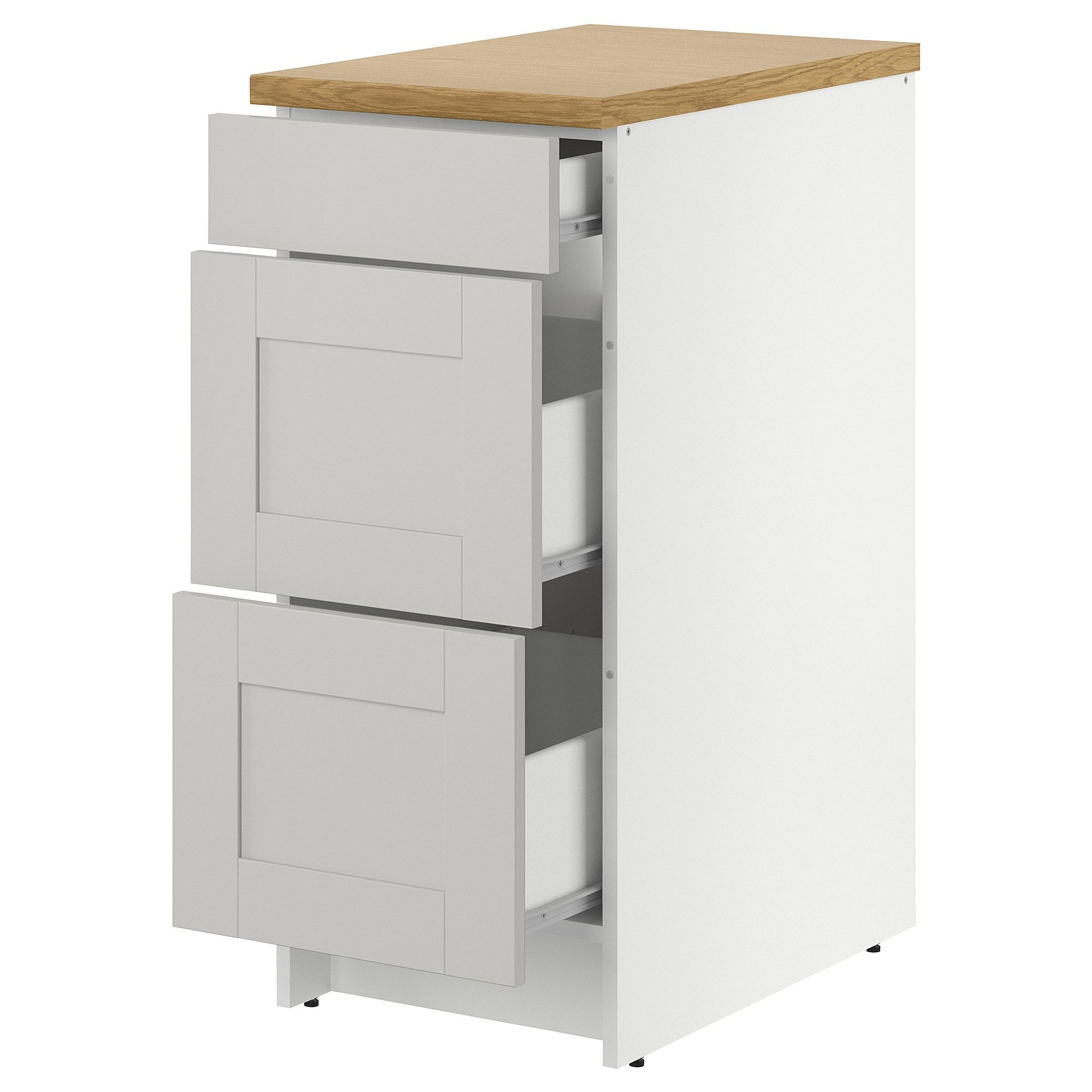 Best Ikea Knoxhult Gray Base Cabinet With Drawers Base 400 x 300
