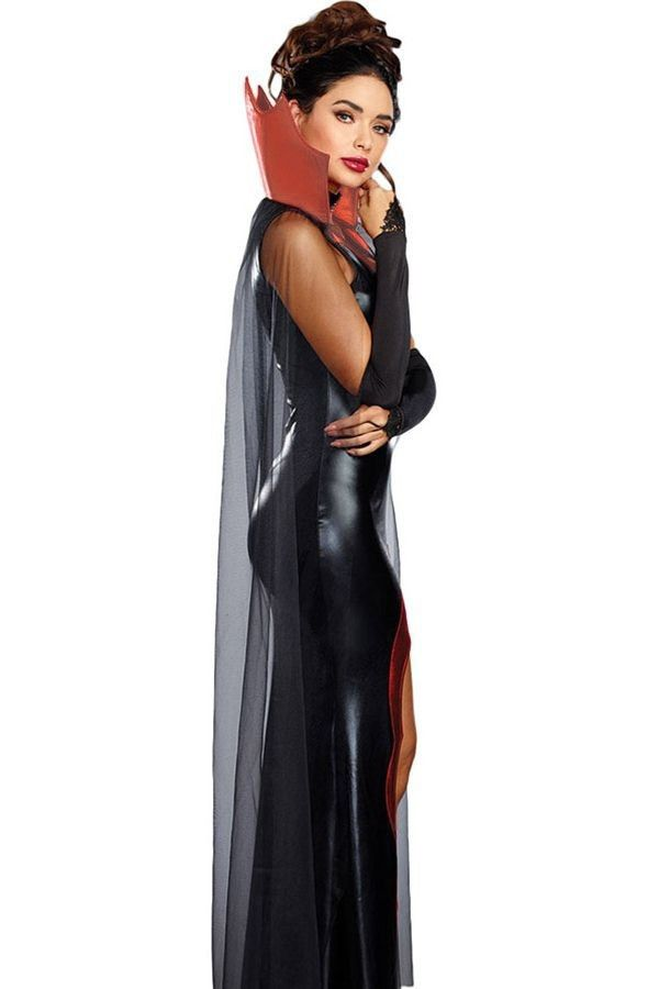 Black Red Sexy Queen V&ire Halloween Cosplay Costume | Pinterest | Halloween cosplay Rocky horror costumes and V&ire costumes  sc 1 st  Pinterest & Black Red Sexy Queen Vampire Halloween Cosplay Costume | Pinterest ...