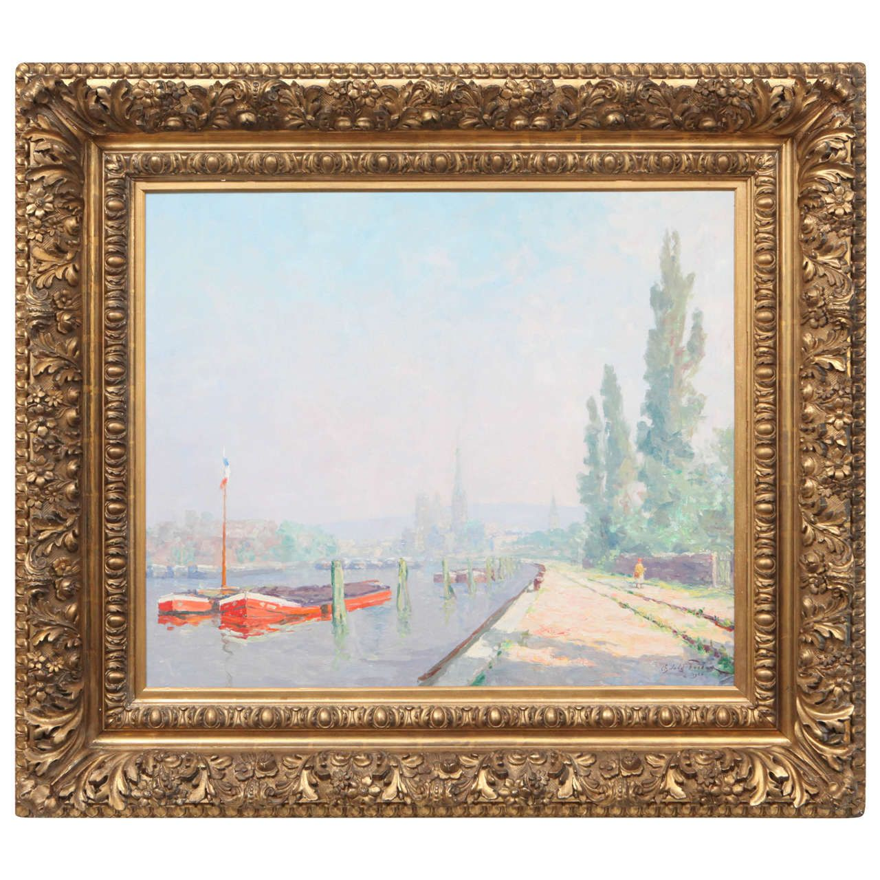 1926 Oswald Pombeau Oil Painting - http://bit.ly/1MdBC60