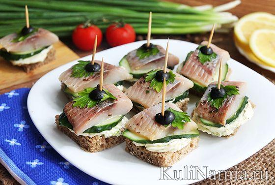 закуски бутерброды канапе рецепт и фото